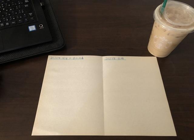スタバのコーヒーを飲みながら今年の反省と来年の目標を立てる