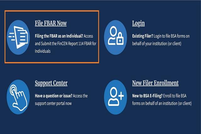アメリカ FBAR 提出方法1